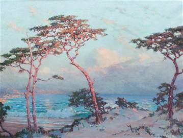 Frank Montague Moore Monterey Seascape Painting