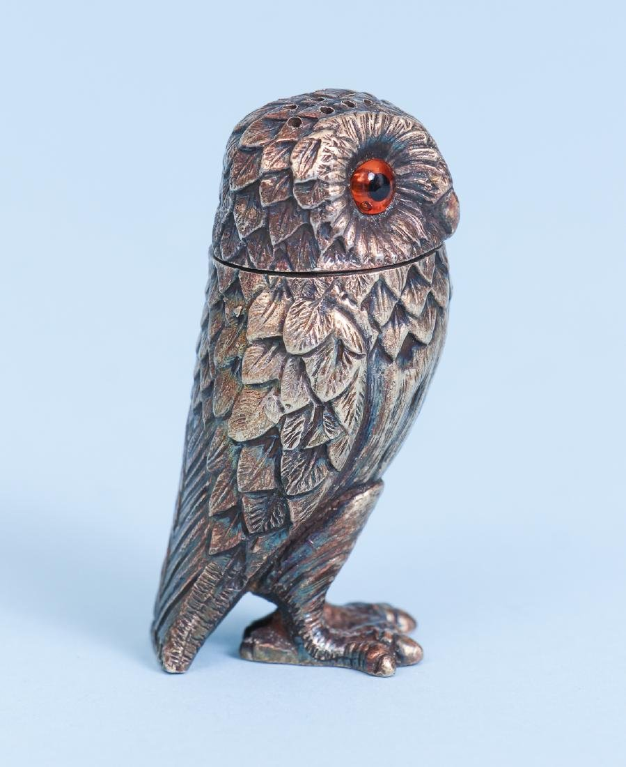 Tiffany Sterling Silver Owl Salt and Pepper Shakers - 5
