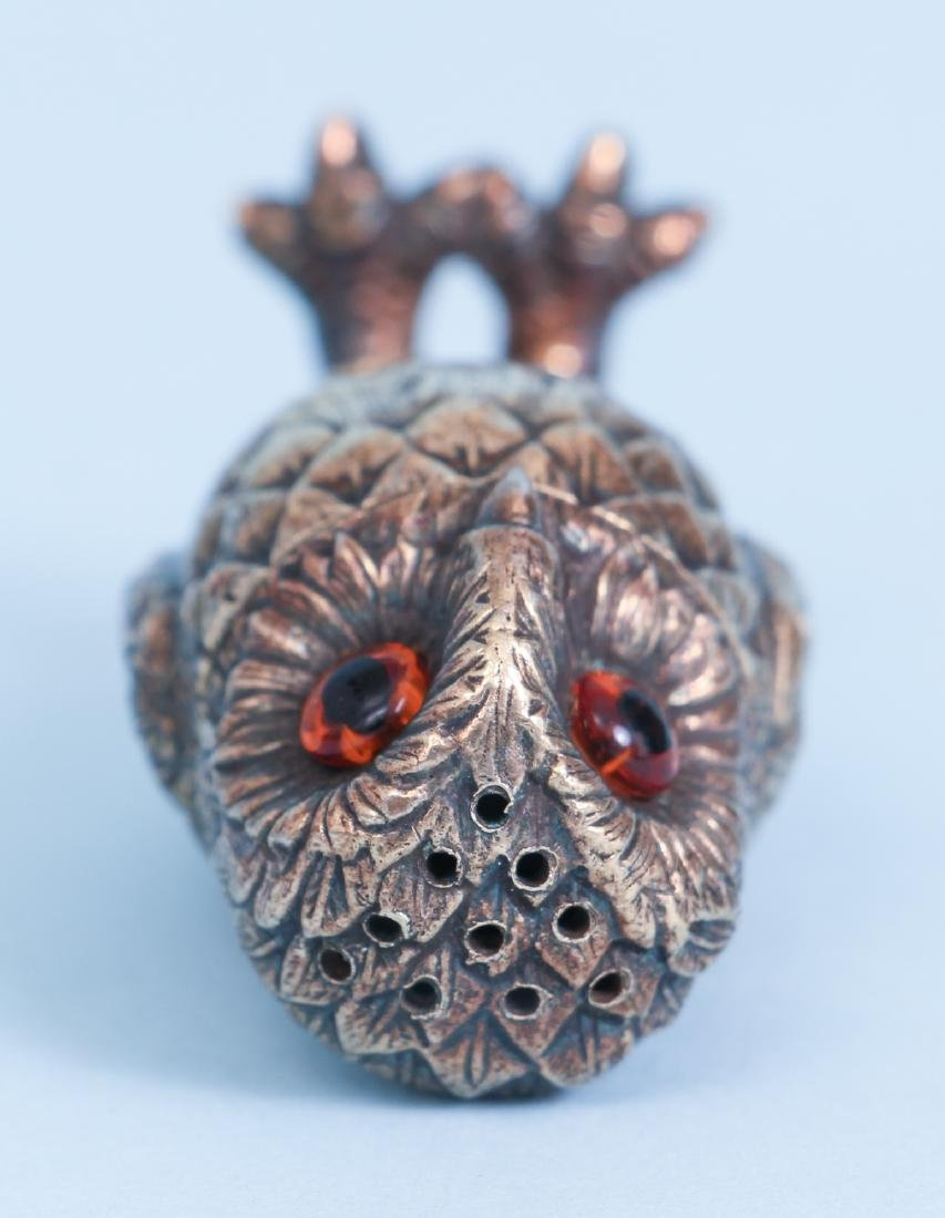 Tiffany Sterling Silver Owl Salt and Pepper Shakers - 7