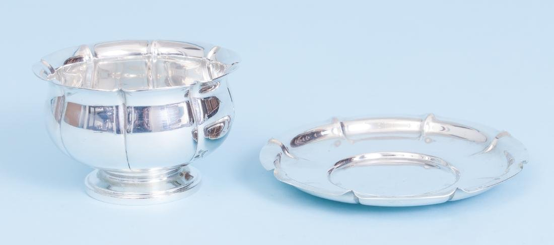 Whiting Art Deco Sterling Silver Bowl and Under Plate - 2