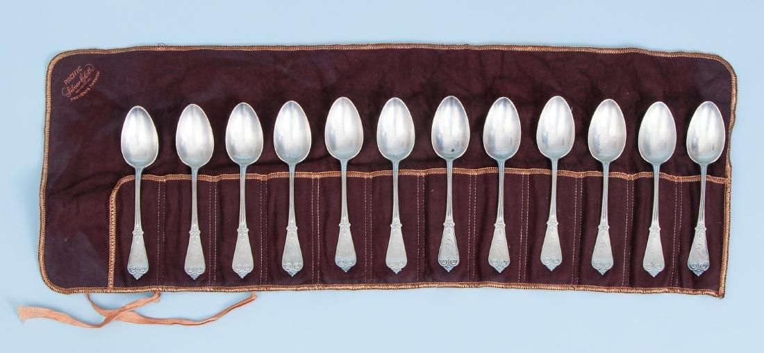 12 Tiffany & Co Monogrammed Teaspoons