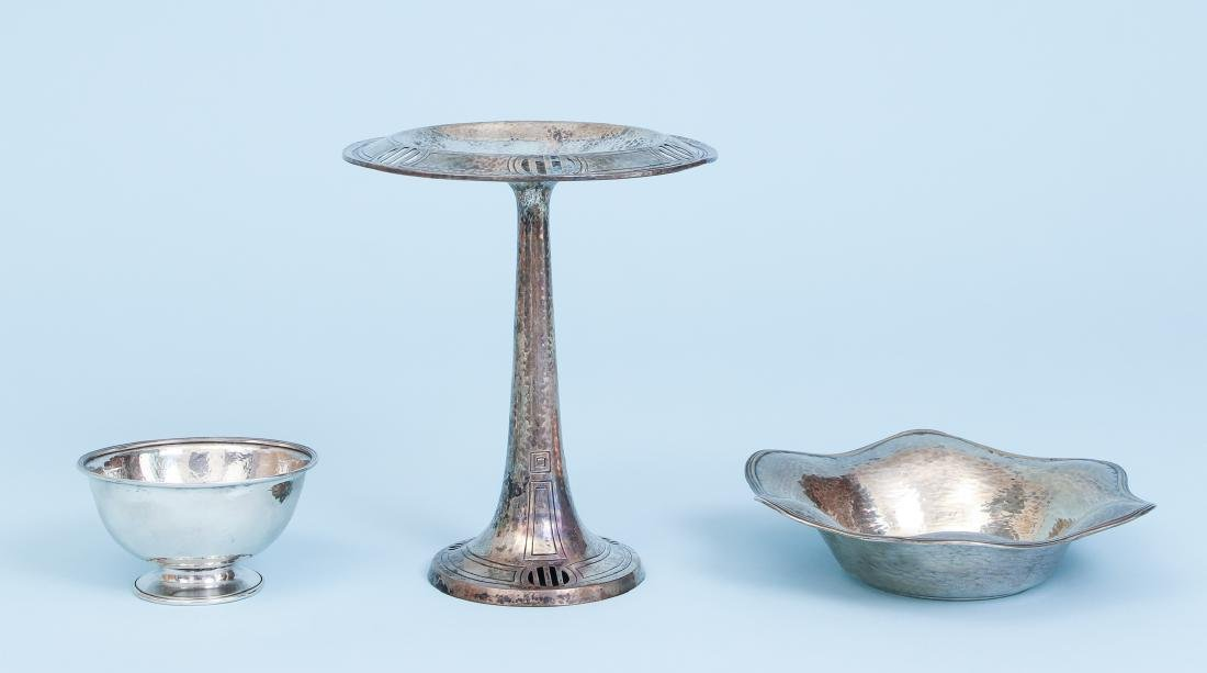 3 Hammered Sterling Silver Pieces