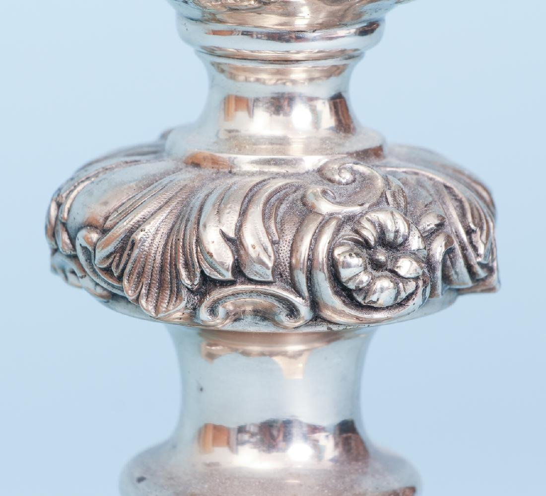 2 Silverplated and Crystal Lamps - 8