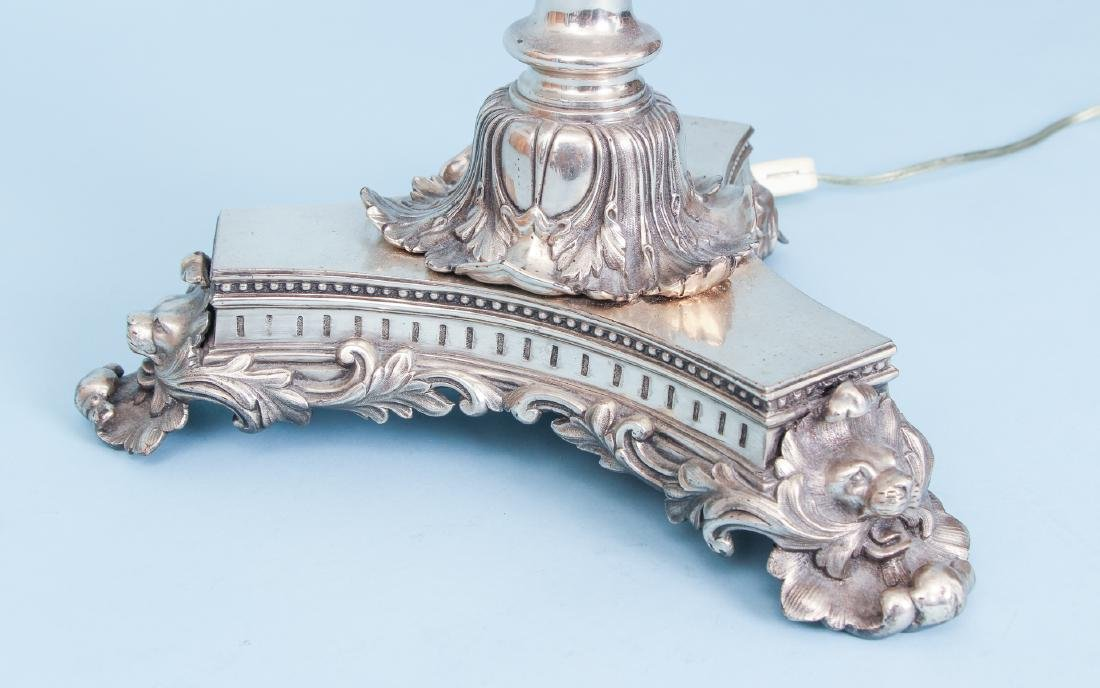 2 Silverplated and Crystal Lamps - 9