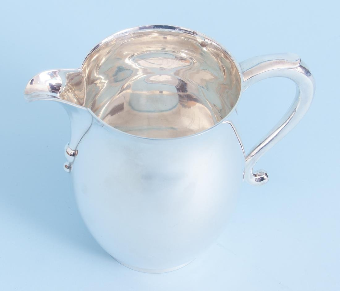Sterling Silver Georgian Reproduction Water Pitcher - 2