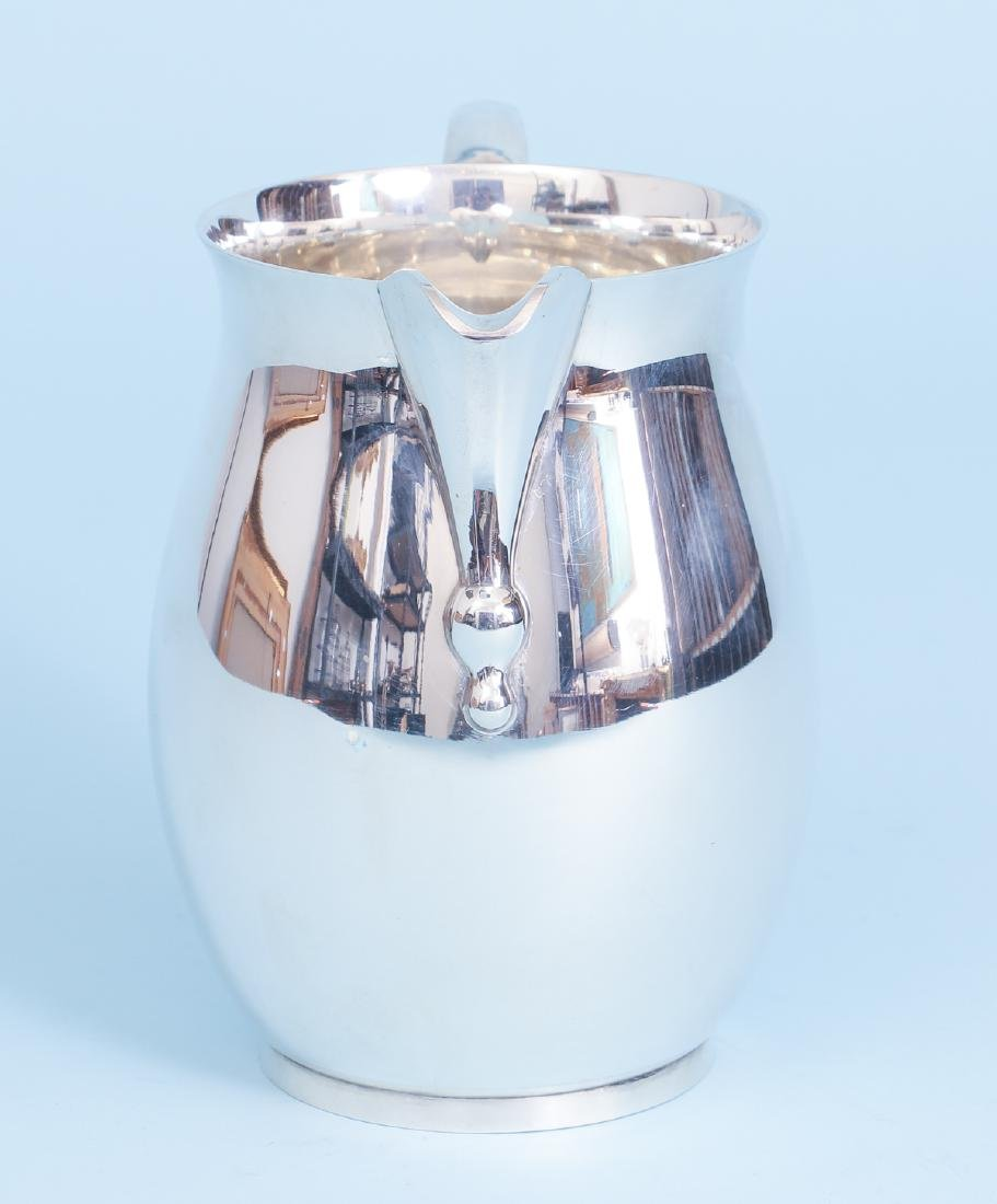 Sterling Silver Georgian Reproduction Water Pitcher - 3