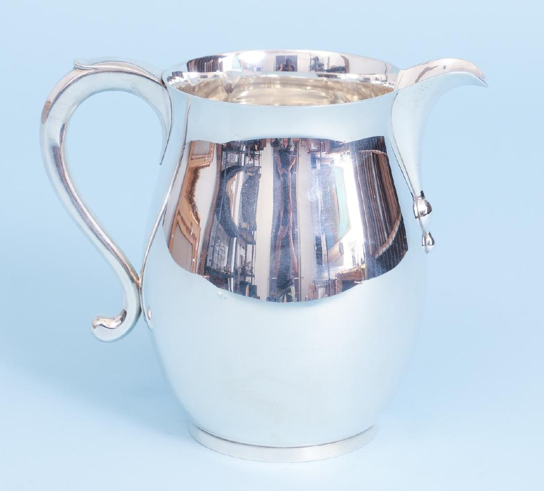 Sterling Silver Georgian Reproduction Water Pitcher - 4