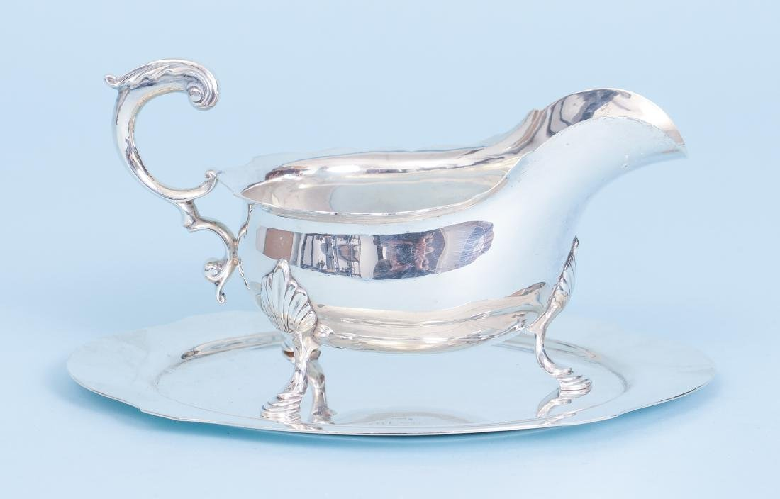 Sterling Silver Sauce and Under Plate
