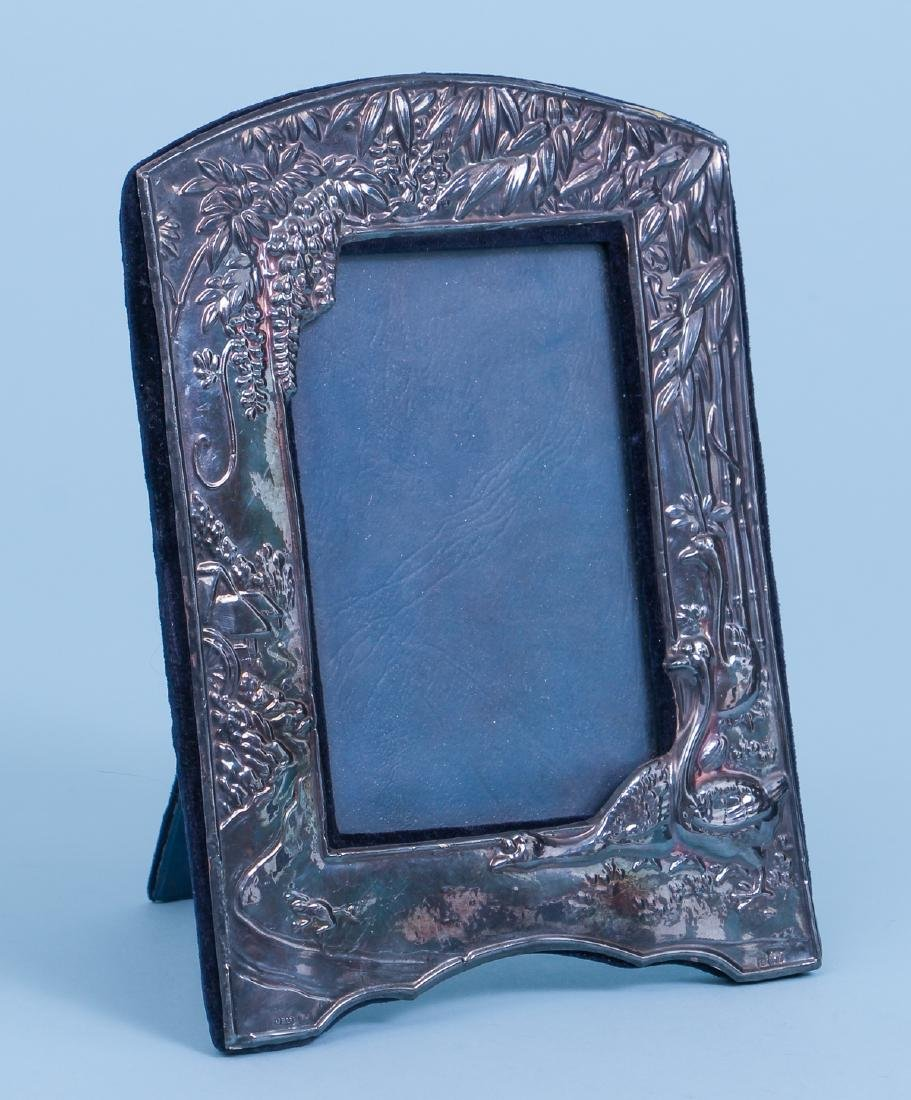 Sterling Silver Picture Frame in Japonisme Style