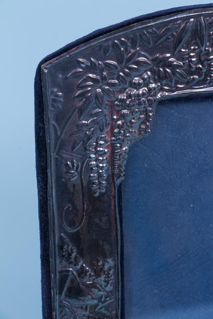 Sterling Silver Picture Frame in Japonisme Style - 4