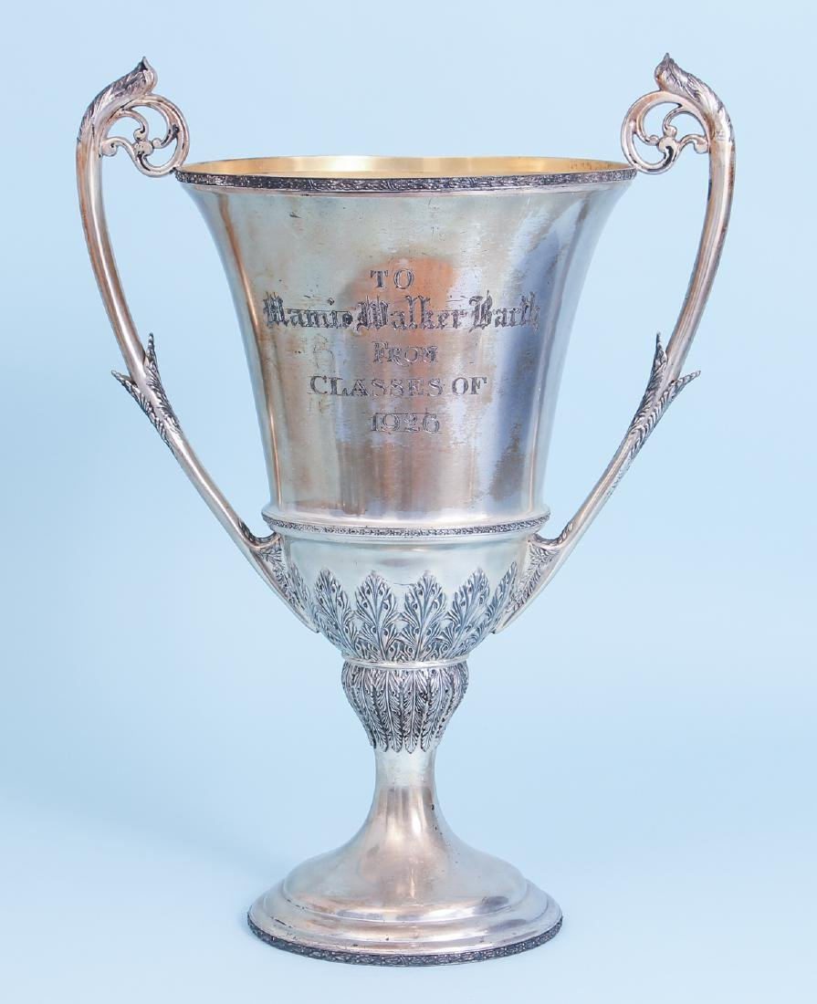 Oversized Wilcox Silverplate Two Handled Trophy