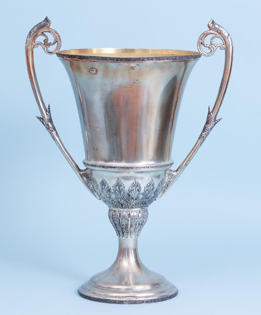 Oversized Wilcox Silverplate Two Handled Trophy - 4