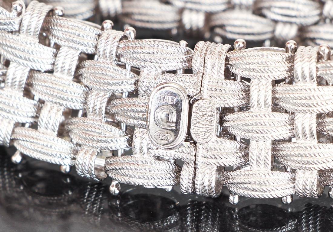 Italian Sterling Mesh Basket Weave Bracelet - 2