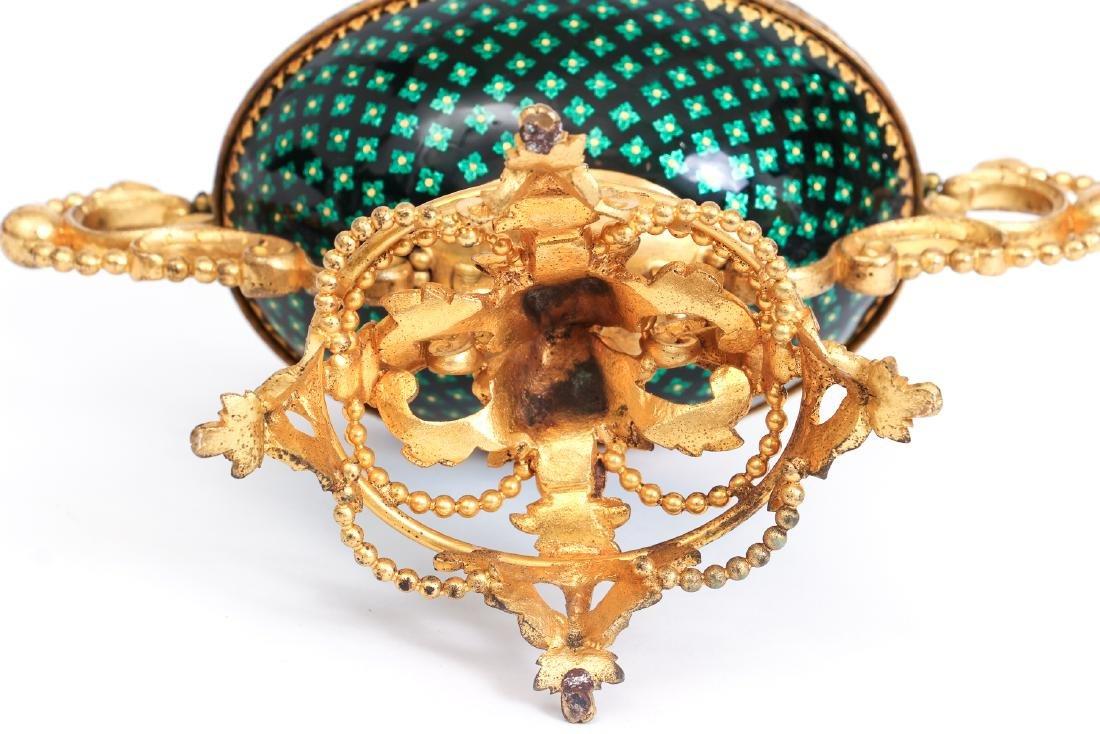 French Tahan Enamel and Gilt Bronze Jewelry Box - 10