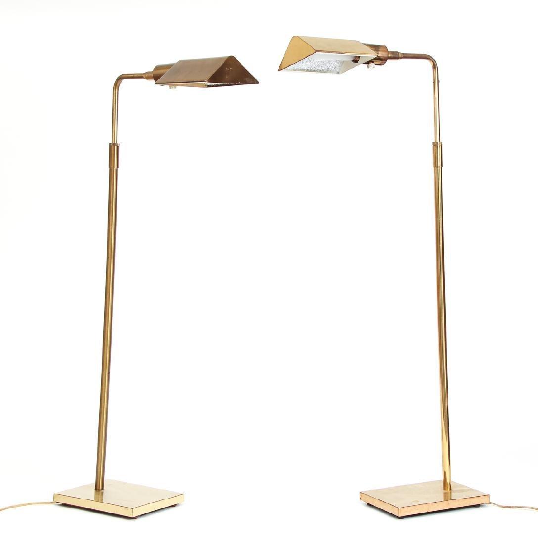 Pair of Koch & Lowy Brass Floor Lamps