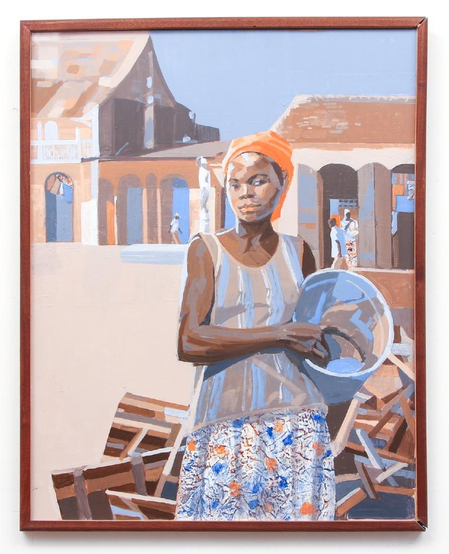 Ernest Crichlow Haitian Noon Oil Painting - 2