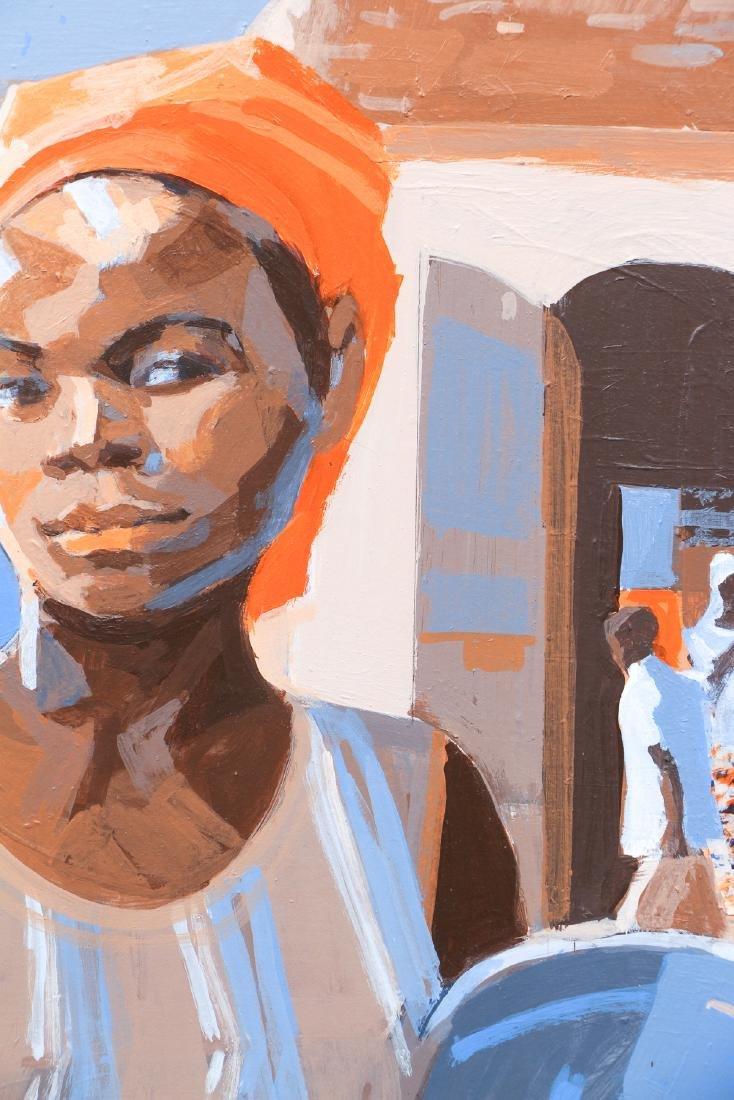 Ernest Crichlow Haitian Noon Oil Painting - 4