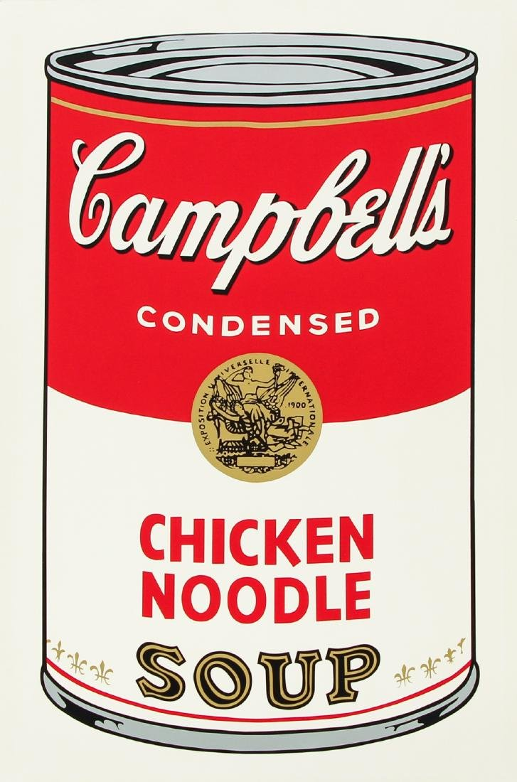 Andy Warhol 1968 Campbell's Chicken Noodle Soup