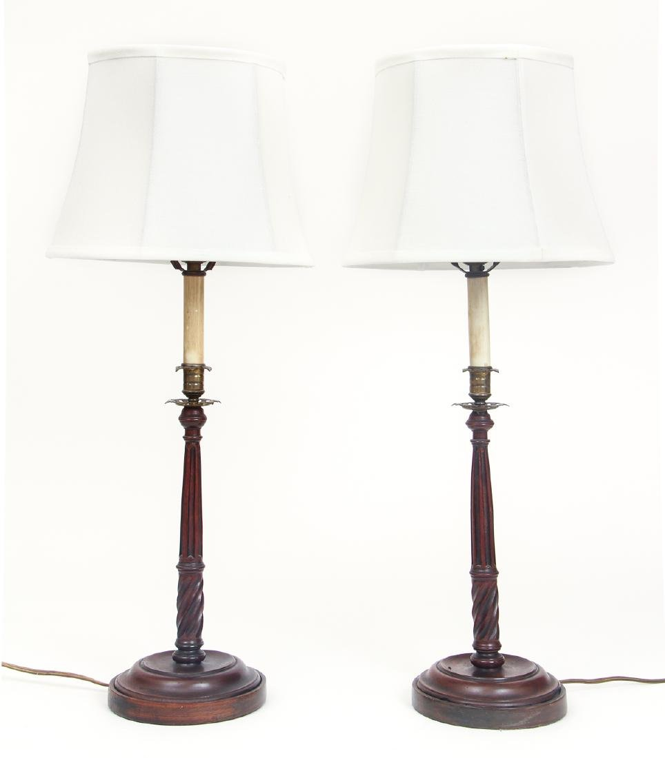 Pair of Candlesticks Converted to Lamps