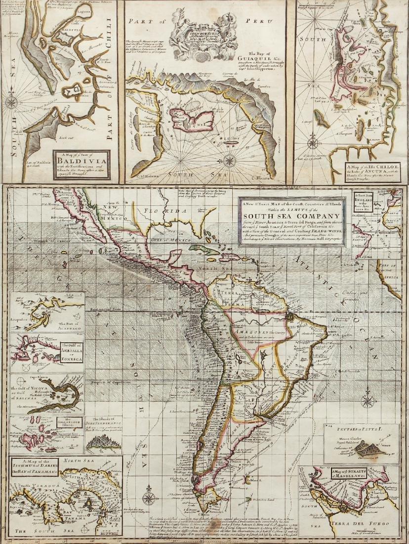 Herman Moll Map of South America, c.1711-1730