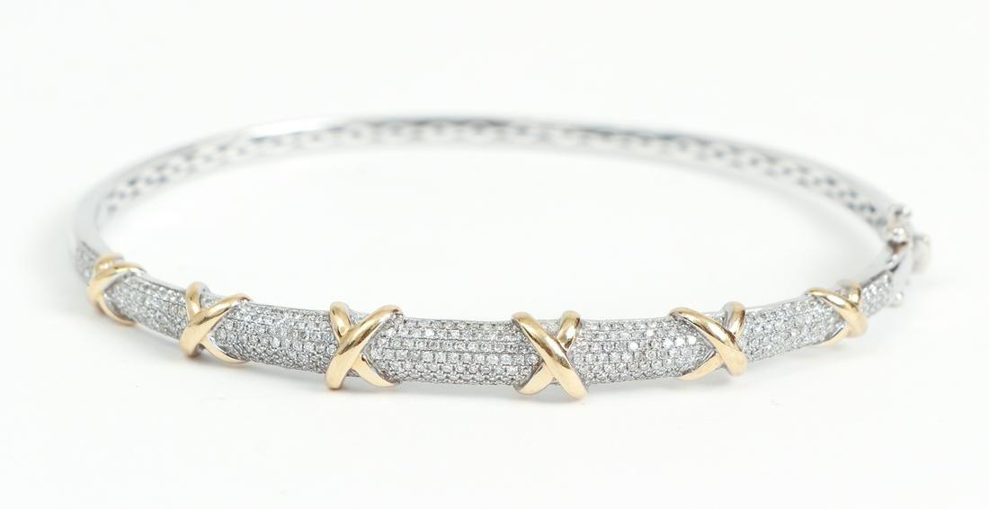 14 K Gold and Diamond Bracelet