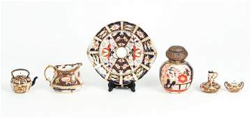 Royal Crown Derby and Davenport Imari Style Pieces