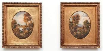 Pair of Italian Oil Landscapes