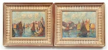 Pair John Binder Oil Paintings