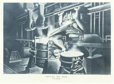 Four Boris Artzybasheff Steelmaking Prints
