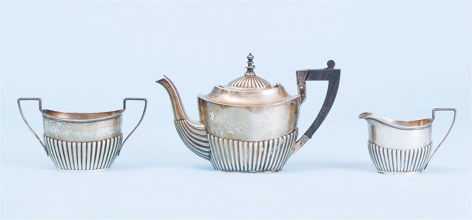 Gorham Sterling Silver Three Piece Tea Set