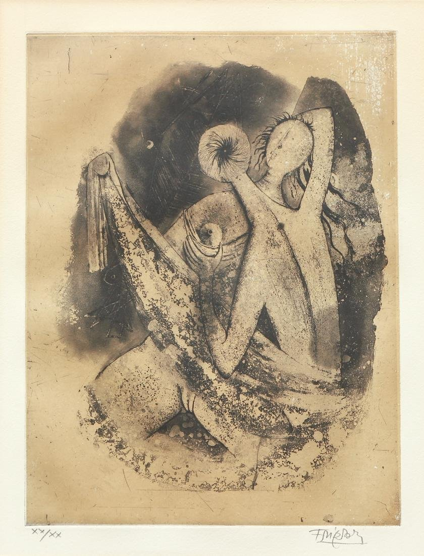 3 Johnny Friedlaender etchings Trois Couples, circa