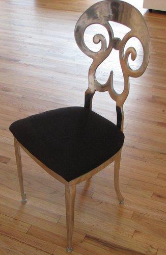 1: 2 Beidermeir Style aluminum chairs