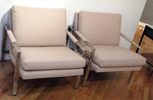 2A: Pair of Modern Upholstered Chairs possibly Baughman