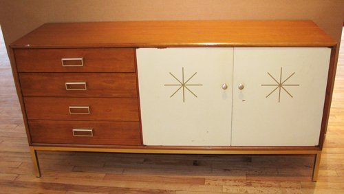 4: Drexel Suncoast Credenza with painted starburst
