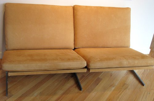 9: Kastholm Fabricius suede-leather settee