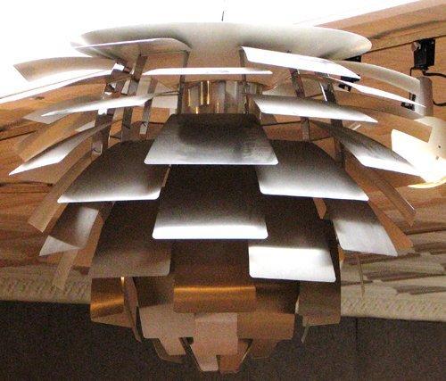 11: Poul Henningsen Artichoke Light Fixture