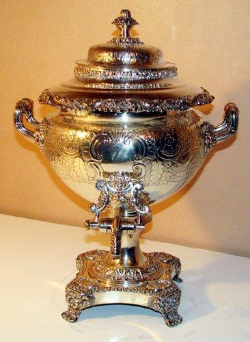 505: English Sheffield-plated Hot Water Urn