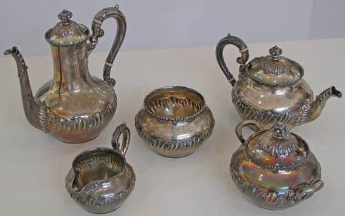 509: 5pc Sterling Starr Tea Set