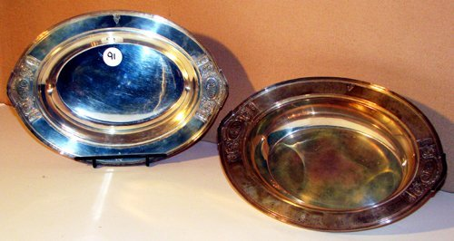 516: Pair Sterling Open Vegetable Dishes