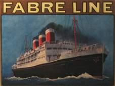 748: Fabre Line Vintage Poster