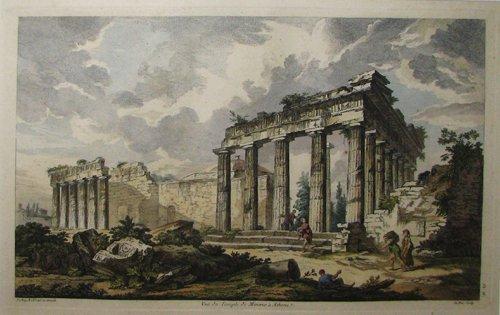888: 2 arch engravings by Julien David Le Roy