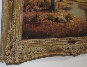 592A: Orrin Draver Indiana Autumn Landscape Painting - 2