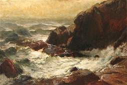 600A: George Herbert McCord Rocky Seacoast painting