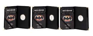 3 Batman 50th Anniversary silver proof coins