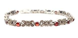 Sterling and Garnet Necklace