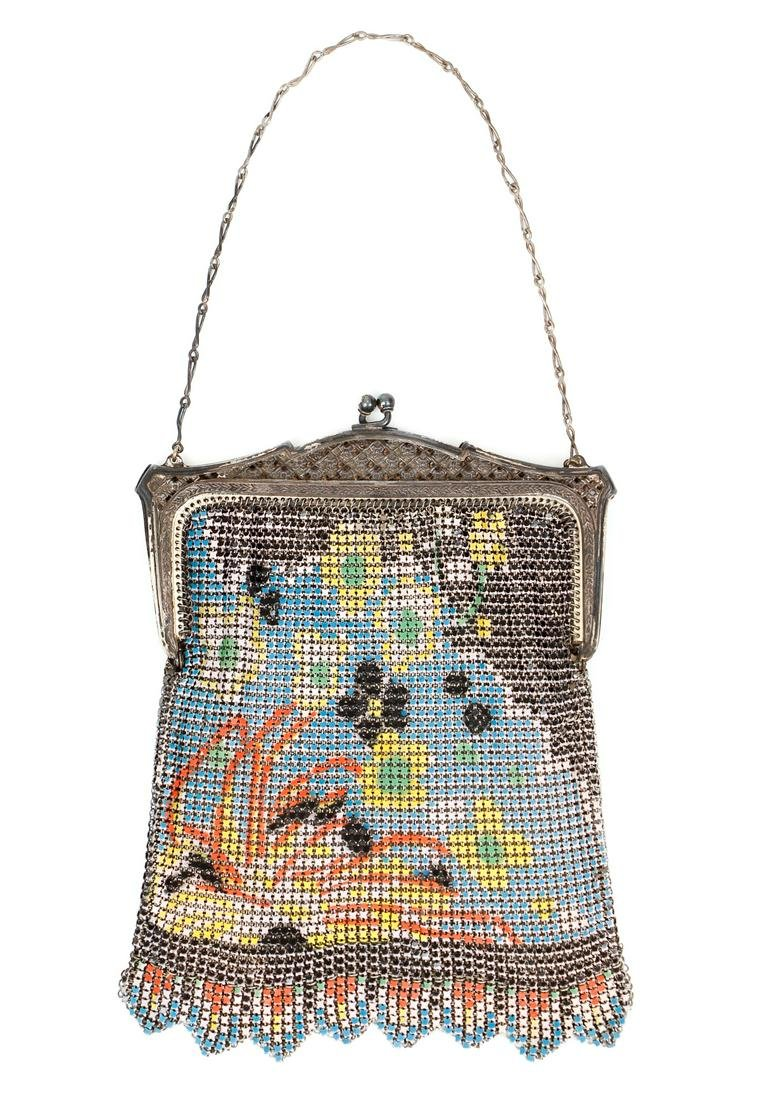Whiting & Davis Geometric Mesh Purse