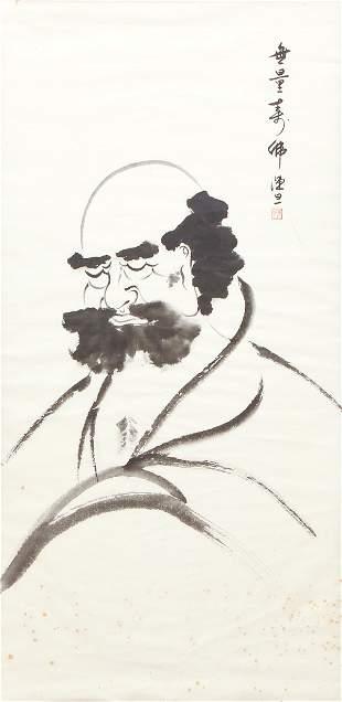 Chinese Watercolor of a Sleeping Gentleman