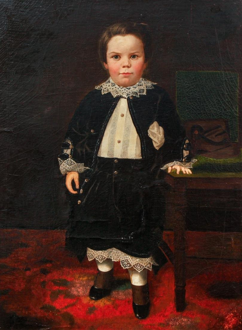 Charles Nahl portrait of Frank Irving Beers as a Boy