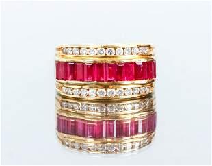 LeVian 18K Ruby and Diamond Ring