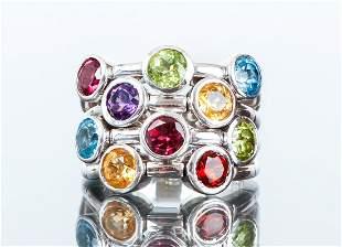14K White Gold Semi-Precious Stone Ring